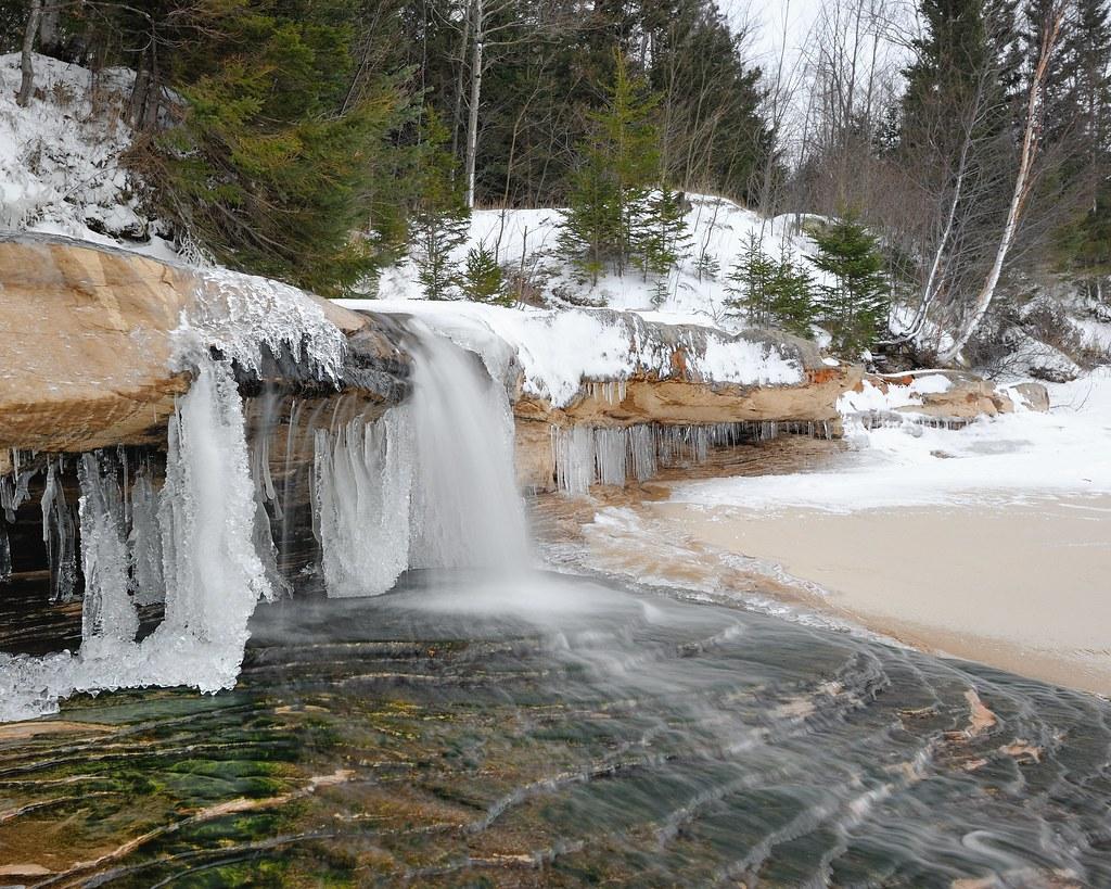 Elliot Falls Winter At Pictured Rocks National Lakeshore Flickr