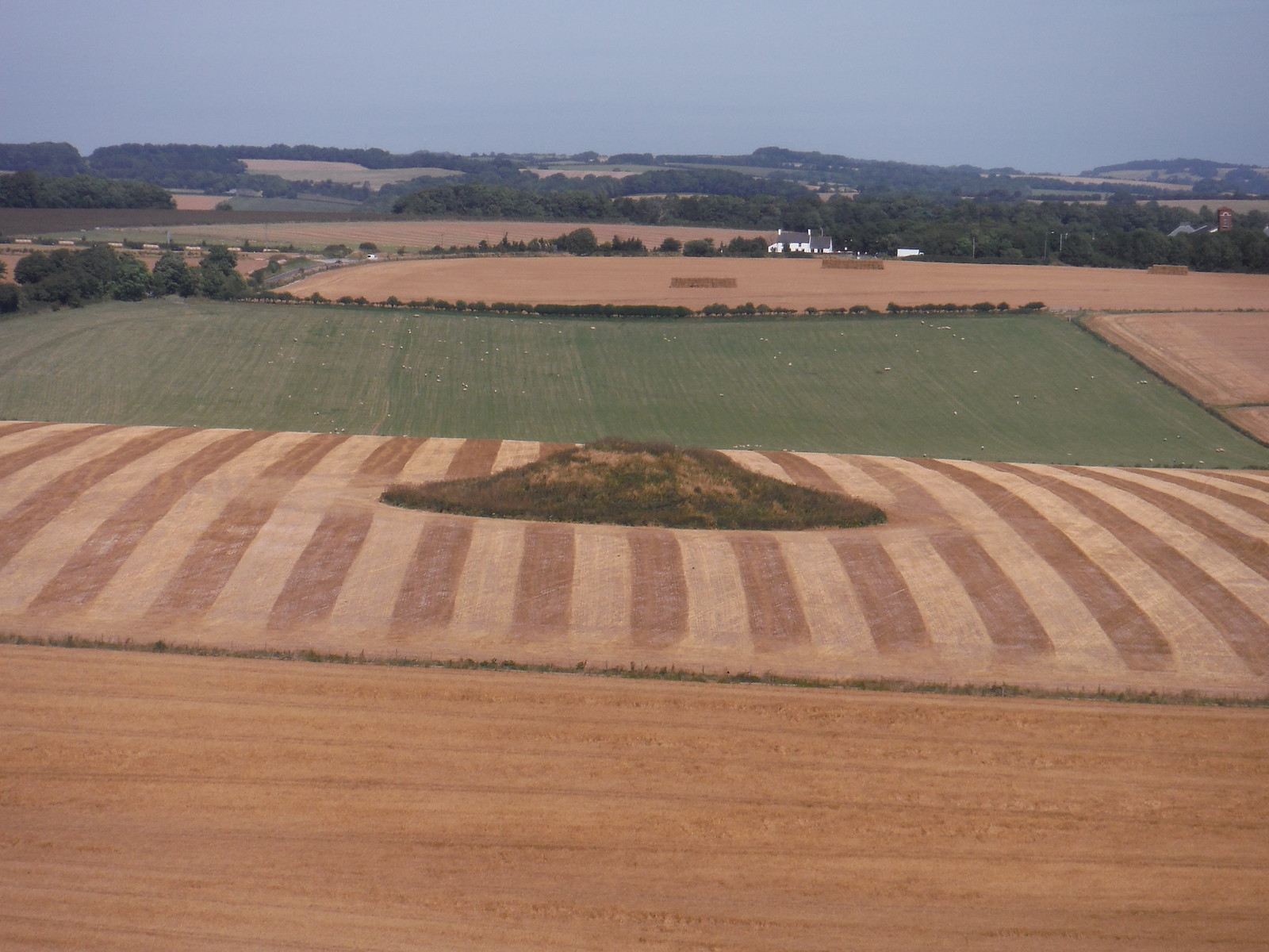 Barrow in Field, from Maiden Castle SWC Walk 275 Dorchester South Circular or to Portesham