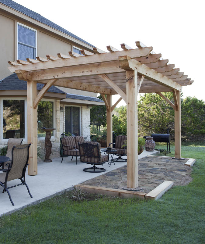 Texas Timber Frames Pergola | A simple yet sophisticated out
