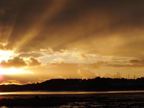 sunset sea cloud sun mer sunrise soleil bretagne nuage vannes