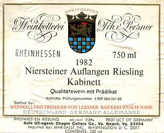 1982 - Niersteiner Auflangen (Rhine)