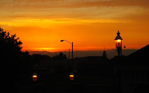 silhouette sunrise downtown vanburen arkansas firstbaptist