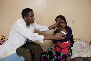 24 years old Health Officer Derib meeting with patients-Teza Wota Health Center Clinic | by UNICEF Ethiopia