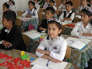 Classroom in rural Uzbekistan   by World Bank Photo Collection