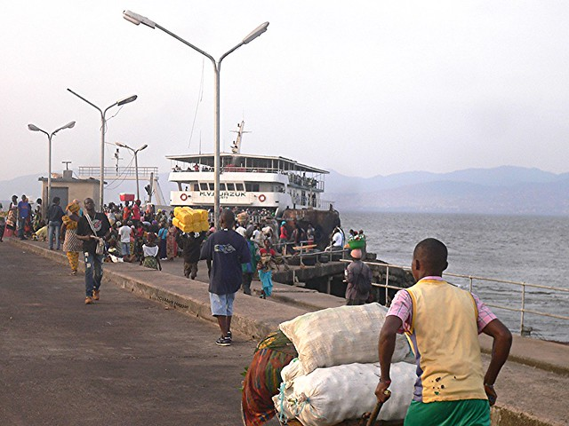The ferry port in Lunghi, Sierra Leone