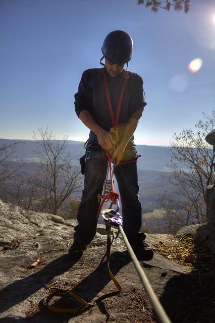 Eric Scott rappelling 2, Lookout Mountain, Walker Co, GA