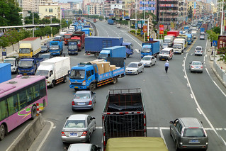 Traffic jam zhangmutou town China | by dcmaster