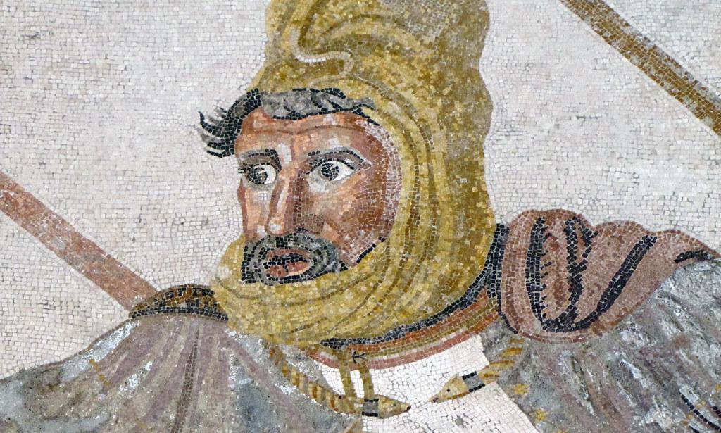 Alexander Mosaic, Detail of Darius III (Bust)