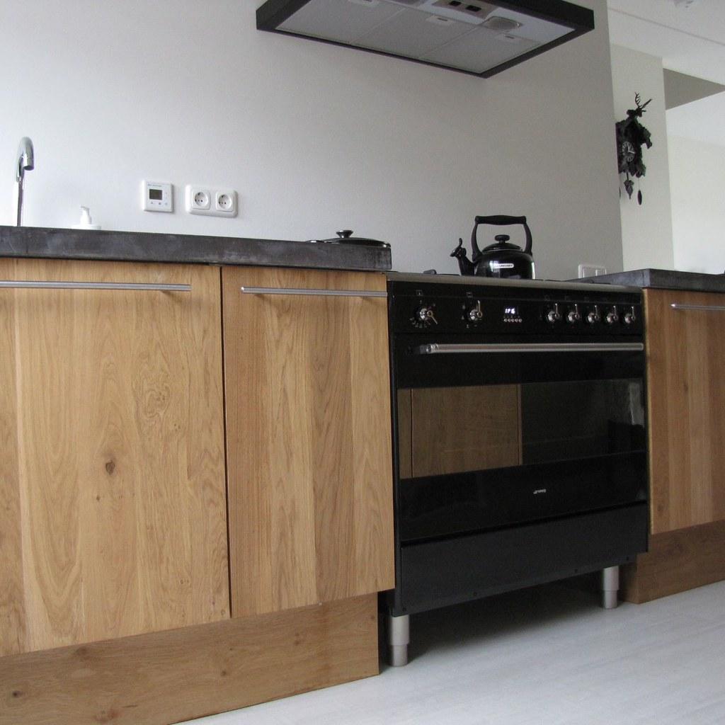 Massief Eiken Houten Keuken Met Ikea Keuken Kasten Door Ko Flickr
