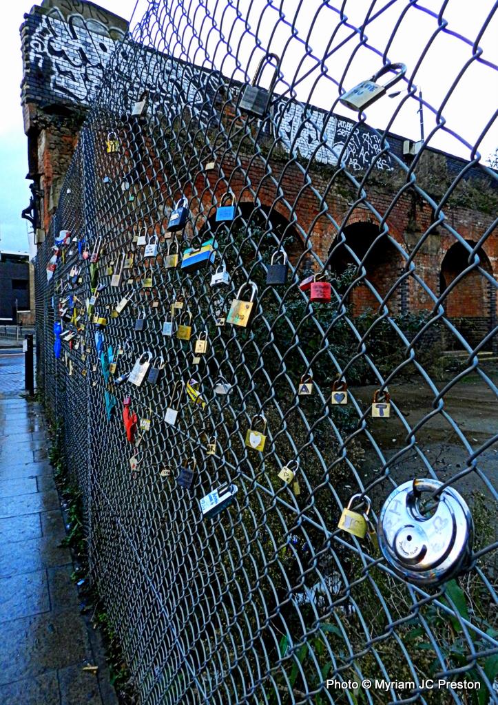 Shoreditch Station: A Locked Fence Shoreditch Station