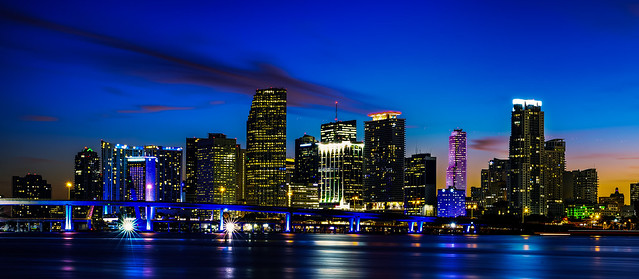 Miami City by night