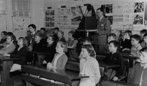 Teacher, Grade 3, showing film, 1954 | by Public Record Office Victoria