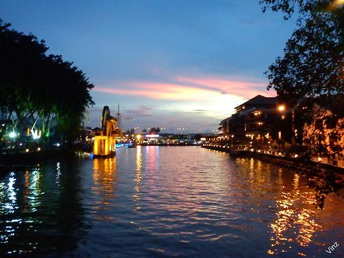 sunset sun riverside malaysia melaka malacca