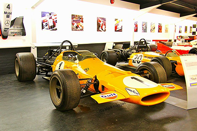 The McLaren room at The Donington Collection