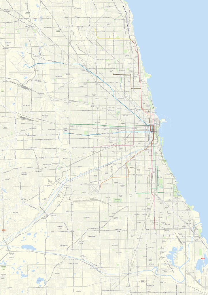 Chicago Map - With CTA | High resolution maps of Chicago wit ...