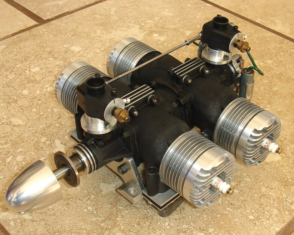 4 Cylinder 2 Stroke Aircraft Engine by John Nuovo, CA, mid