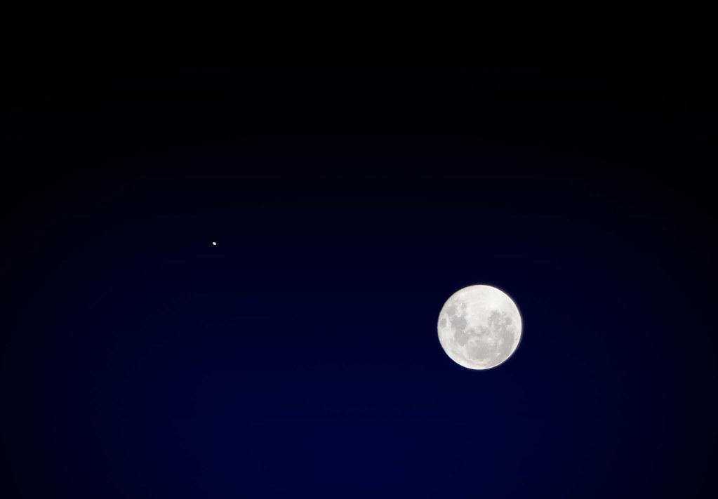 Conjunción Entre La Luna Y Júpiter Noviembre 2012 Nikon