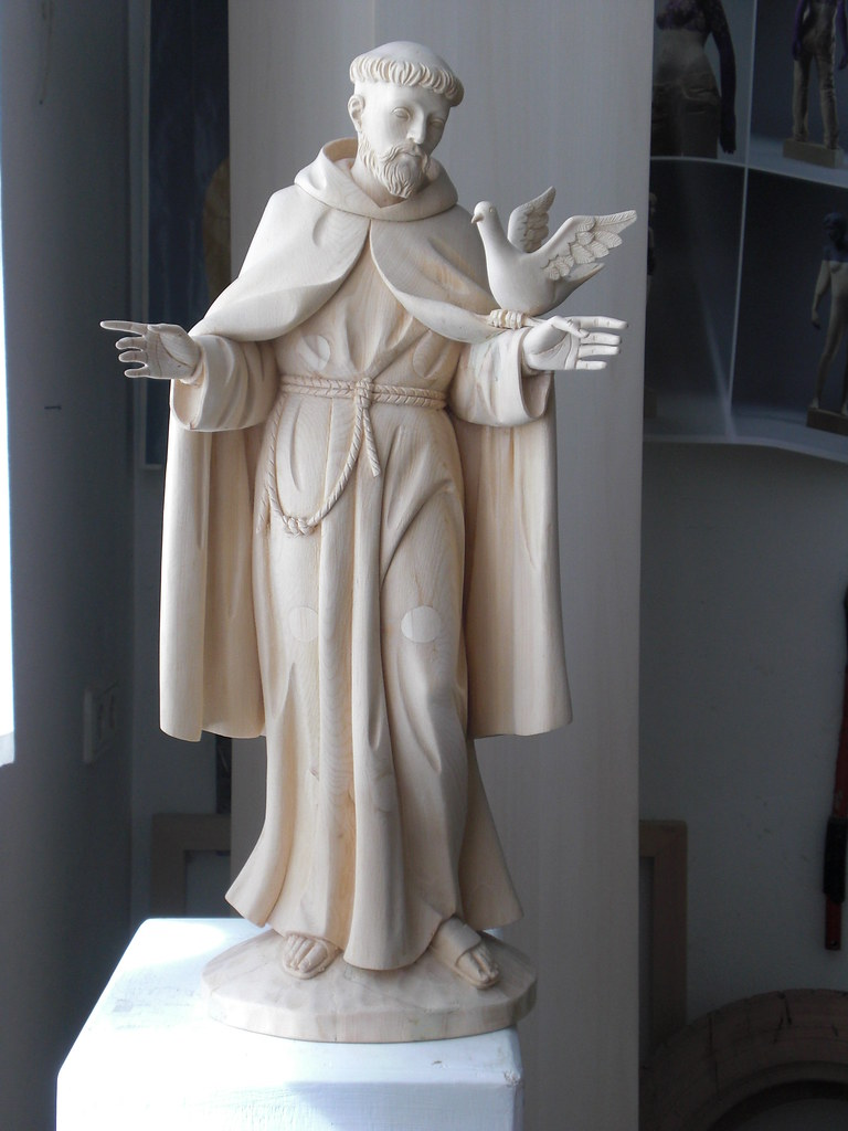 Stfrancis Statue Stfrancis Of Assisi Handcarved In Wood Flickr