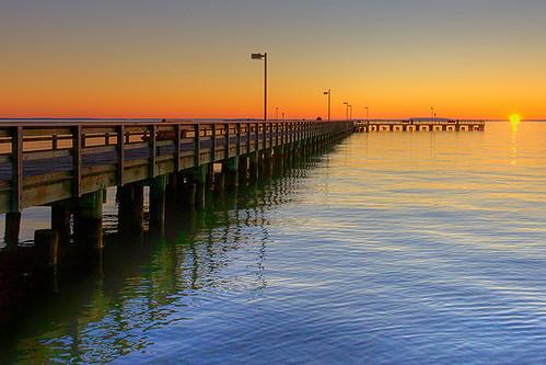 color water sunrise pier unitedstates maryland easternshore waterway chesapeakebay pocomoke kentisland jonmeyer delmarvapeninsula midatlanticstates nikond3x jonmeyerphotography jonmeyerphotographicart