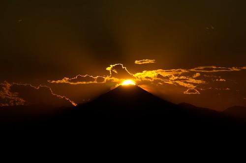 sunset japan tokyo ikebukuro fujisan rare sunshinecity diamondfuji ダイヤモンド富士 nikond3100 leveloindigo