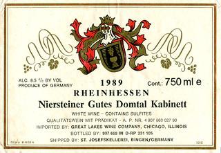 1989 - Niersteiner Gutes Domtal (Rhine)