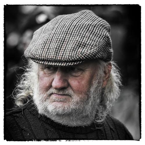 street ireland portrait horse irish galway hair beard grey candid fair cap ballinasloe fullard frankfullard