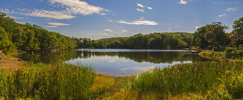 smack53 panorama lake water pond reflections mountains sky clouds scenery scenic autumn outdoors outside kinnelon newjersey canon powershot g12 canonpowershotg12 silascondictpark
