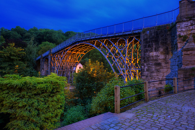 The Iron Bridge in the Blue Hour