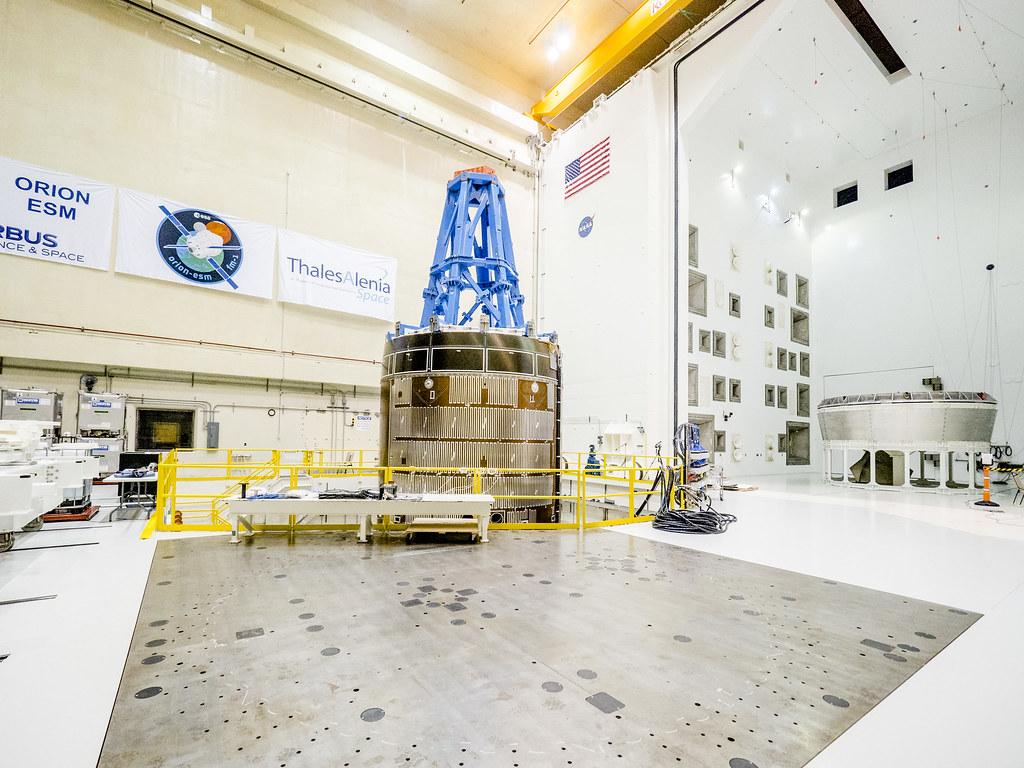 ESA Service Module Vibration Testing