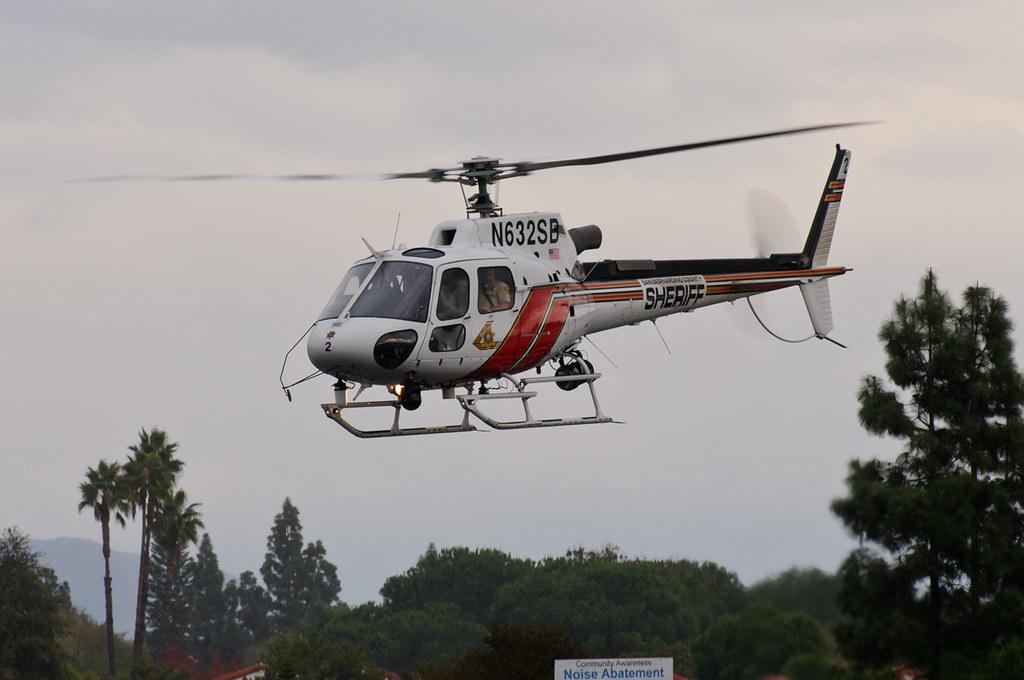 San Bernardino County Sheriffs Helicopter | Taking off from