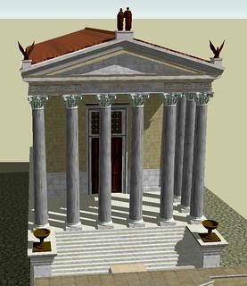 3D reconstruction of the Temple of Divus Antoninus Pius an