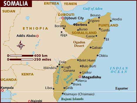 A map of the Horn of Africa nation of Somalia on the east … | Flickr