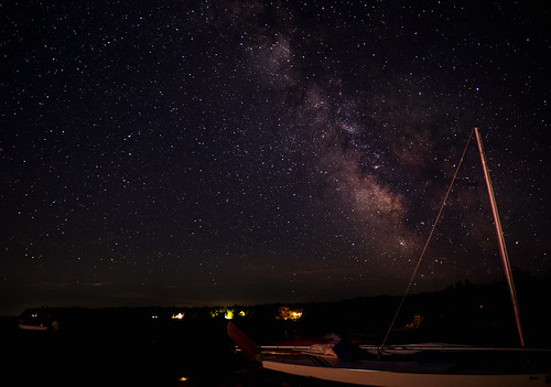 night milkyway landscape meteors astrophotography stars skyscape mi beaverisland sailboat dark michigan unitedstates us