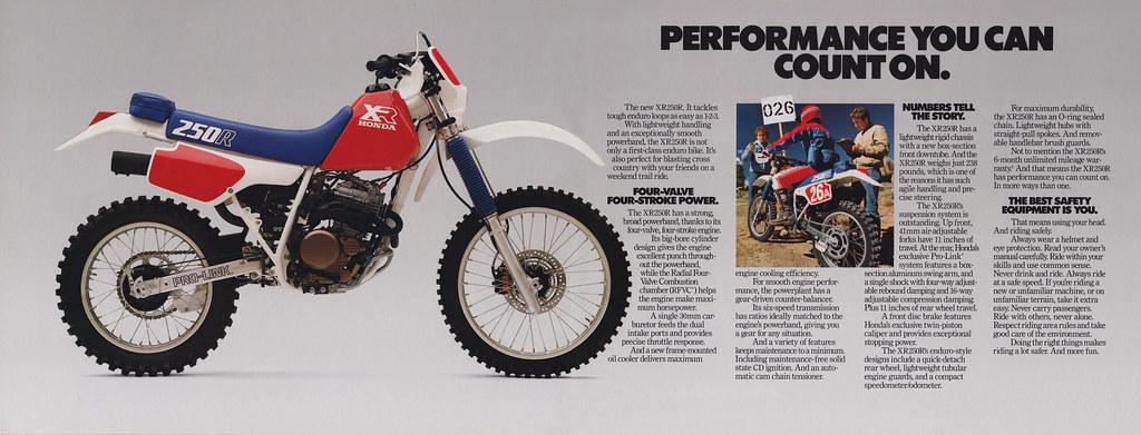1986 Honda XR250R Brochure Page 2-3 | Tony Blazier | Flickr