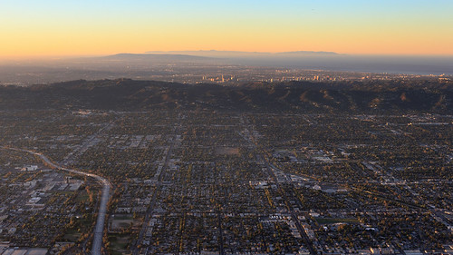 california morning sunrise losangeles aerial valleyglen ulyssessgranthighschool