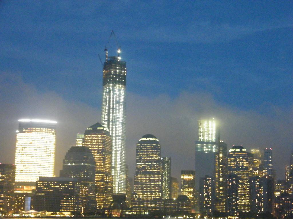 new world trade center at night