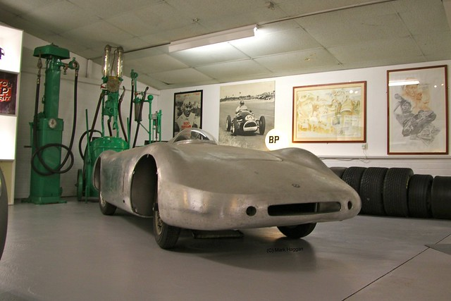 A futuristic looking car in The Donington Collection