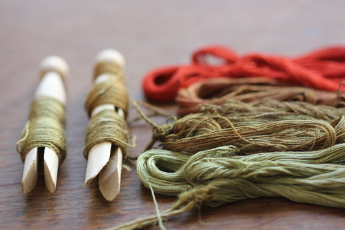 naturally dyed silk threads | by Claire Wellesley-Smith