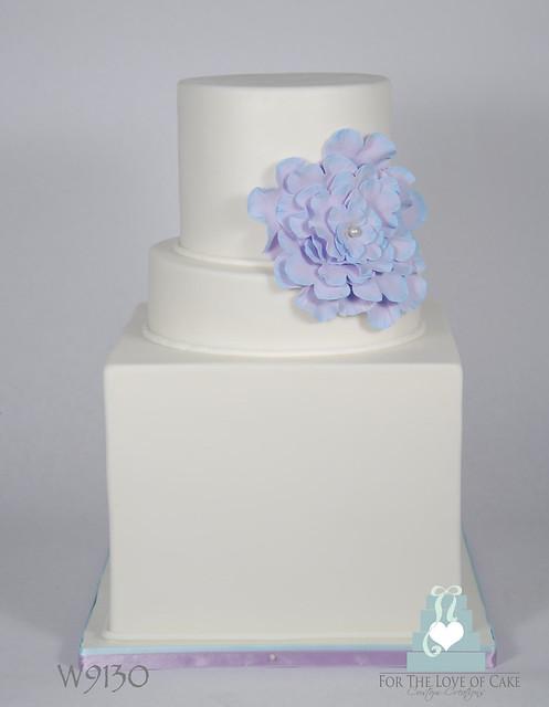 W9130 simple white purple wedding cake toronto