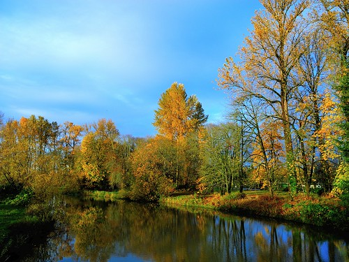 bridge autumn oregon canal dusk amphitheatre canoe eugene altonbakerpark autzenstadium cuthbertamphitheater dscn9579