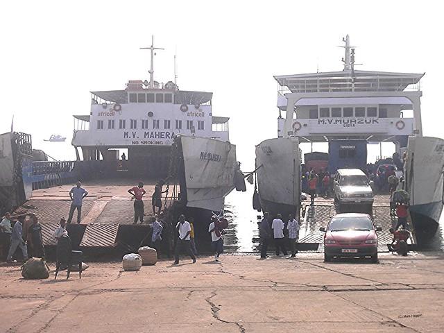 The ferry port in Freetown, Sierra Leone