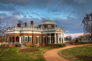 Monticello at dusk [UNESCO World Heritage Site] | by Bob Mical