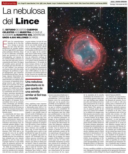 Zoco Astronomía: La nebulosa planetaria del Lince | by Ángel López-Sánchez