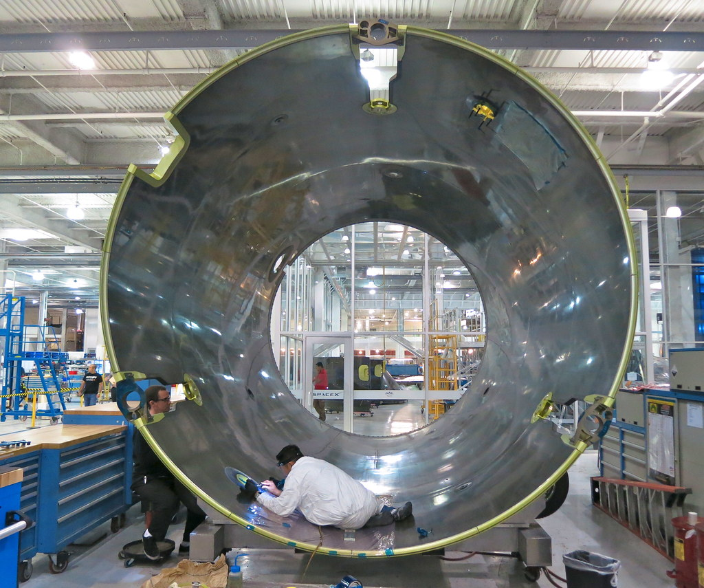 SpaceX Rocket Manufacturing | Here you see the carbon fiber