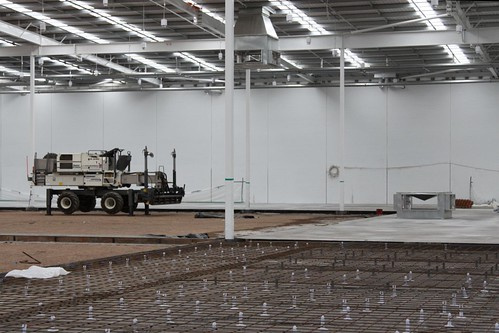 Pouring the concrete slab inside a new Bunnings Warehouse