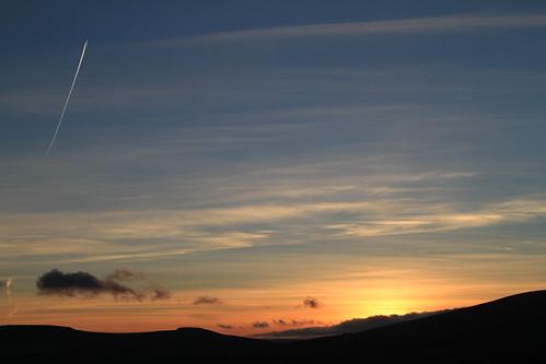 ireland sunset sky sun scenery colours dusk wicklow rathdrum ballinderry