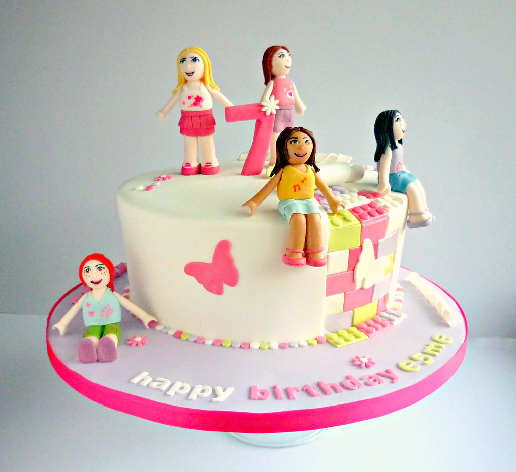 Superb Lego Friends Birthday Cake Liana Stevens Flickr Personalised Birthday Cards Paralily Jamesorg