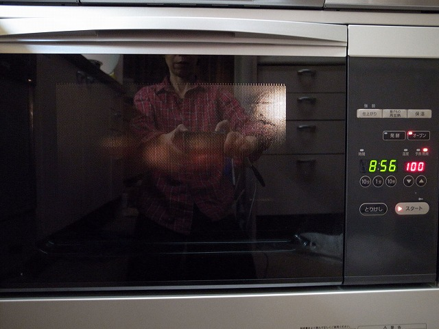 <p>i)余熱なしのオーブンを100度に設定して10分</p>