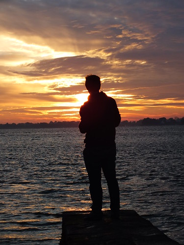 sunset sea people sun mer sunrise soleil coucher lever