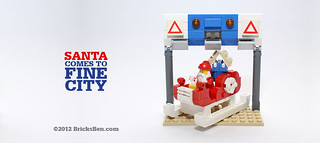 BricksBen - Santa Come To Fine City - LEGO Sleigh ERP Gantry Singapore | by BricksBen LEGO® Creations